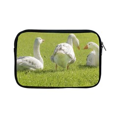 Group Of White Geese Resting On The Grass Apple Ipad Mini Zipper Cases by dflcprints