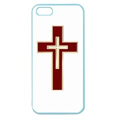 Red Christian Cross Apple Seamless Iphone 5 Case (color) by igorsin
