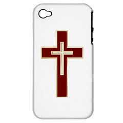 Red Christian Cross Apple Iphone 4/4s Hardshell Case (pc+silicone) by igorsin