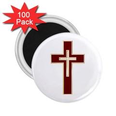 Red Christian Cross 2 25  Magnet (100 Pack)  by igorsin
