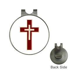 Red Christian cross Golf Ball Marker Hat Clip by igorsin