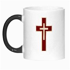 Red Christian Cross Morph Mug by igorsin