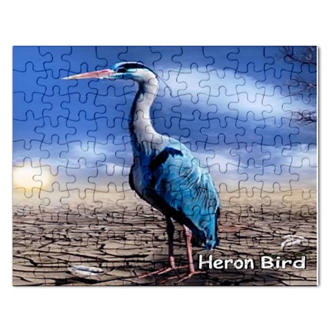 Blue Heron Puzzle 2015 By Pamela Sue Goforth   Jigsaw Puzzle (rectangular)   N1qsszphx6vf   Www Artscow Com Front