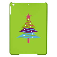 Green Christmas Tree Apple Ipad Air Hardshell Case by 4SeasonsDesigns