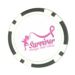 Survivor Stronger Than Cancer Pink Ribbon Poker Chip (10 Pack) by breastcancerstuff