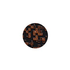 Brown Pieces 1  Mini Magnet by LalyLauraFLM