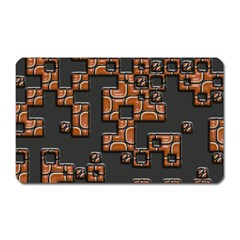 Brown Pieces Magnet (rectangular) by LalyLauraFLM