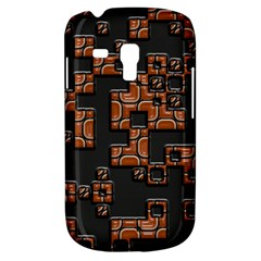 Brown pieces Samsung Galaxy S3 MINI I8190 Hardshell Case by LalyLauraFLM