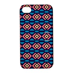 Rhombus  pattern Apple iPhone 4/4S Hardshell Case with Stand by LalyLauraFLM