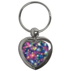 Sparkling Lights Pattern Key Chains (heart)  by LovelyDesigns4U