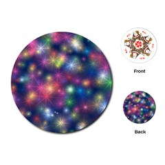 Sparkling Lights Pattern Playing Cards (Round)  by LovelyDesigns4U