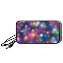 Sparkling Lights Pattern Portable Speaker (black)  by LovelyDesigns4U