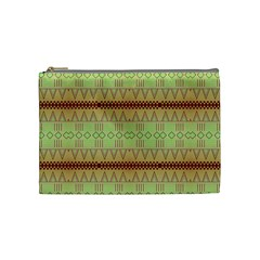 Aztec Pattern Cosmetic Bag (medium) by LalyLauraFLM