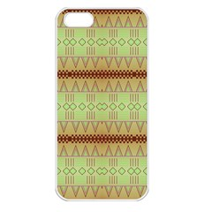 Aztec Pattern Apple Iphone 5 Seamless Case (white) by LalyLauraFLM