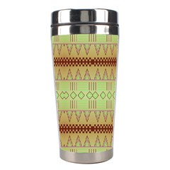 Aztec Pattern Stainless Steel Travel Tumbler by LalyLauraFLM