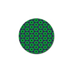 Stars In Hexagons Pattern Golf Ball Marker by LalyLauraFLM