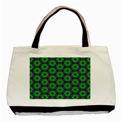 Stars In Hexagons Pattern Basic Tote Bag by LalyLauraFLM