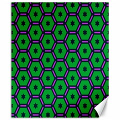 Stars In Hexagons Pattern Canvas 8  X 10  by LalyLauraFLM