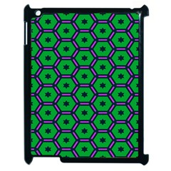 Stars In Hexagons Pattern Apple Ipad 2 Case (black) by LalyLauraFLM