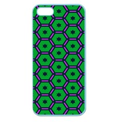 Stars In Hexagons Pattern Apple Seamless Iphone 5 Case (color) by LalyLauraFLM