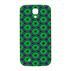 Stars In Hexagons Pattern Samsung Galaxy S4 I9500/i9505  Hardshell Back Case by LalyLauraFLM