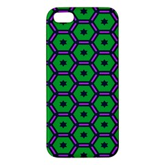 Stars In Hexagons Pattern Iphone 5s Premium Hardshell Case by LalyLauraFLM