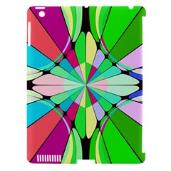 Distorted Flower Apple Ipad 3/4 Hardshell Case (compatible With Smart Cover) by LalyLauraFLM
