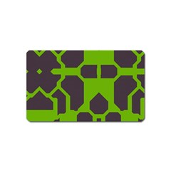 Brown Green Shapes Magnet (name Card) by LalyLauraFLM