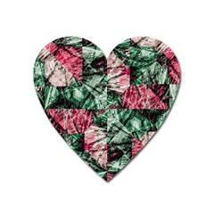 Luxury Grunge Digital Pattern Heart Magnet by dflcprints