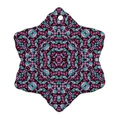 Luxury Grunge Digital Pattern Snowflake Ornament (2 Side) by dflcprints