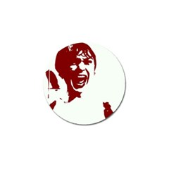 Psycho Golf Ball Marker by icarusismartdesigns