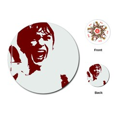 Psycho Playing Cards (round)  by icarusismartdesigns