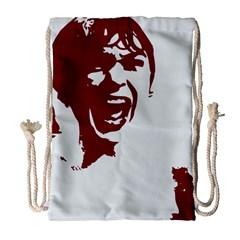 Psycho Drawstring Bag (large) by icarusismartdesigns