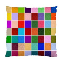 Multi Colour Squares Pattern Standard Cushion Cases (two Sides)  by LovelyDesigns4U
