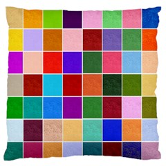 Multi Colour Squares Pattern Standard Flano Cushion Cases (two Sides)  by LovelyDesigns4U