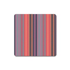 Triangles and stripes pattern Magnet (Square) by LalyLauraFLM