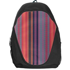 Triangles And Stripes Pattern Backpack Bag by LalyLauraFLM