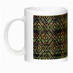 Multicolored Ethnic Check Seamless Pattern Night Luminous Mugs by dflcprints
