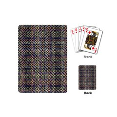 Multicolored Ethnic Check Seamless Pattern Playing Cards (mini)  by dflcprints
