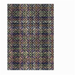 Multicolored Ethnic Check Seamless Pattern Large Garden Flag (two Sides) by dflcprints