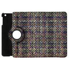 Multicolored Ethnic Check Seamless Pattern Apple Ipad Mini Flip 360 Case by dflcprints