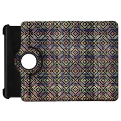Multicolored Ethnic Check Seamless Pattern Kindle Fire Hd Flip 360 Case by dflcprints