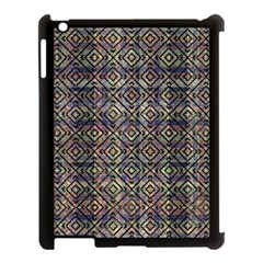 Multicolored Ethnic Check Seamless Pattern Apple Ipad 3/4 Case (black) by dflcprints