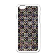 Multicolored Ethnic Check Seamless Pattern Apple Iphone 6/6s White Enamel Case by dflcprints