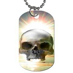 Skull Sunset Dog Tag (two Sides) by icarusismartdesigns
