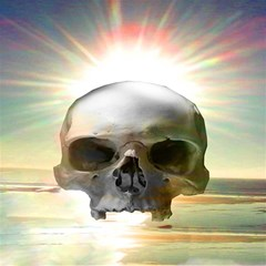 Skull Sunset Magic Photo Cubes by icarusismartdesigns