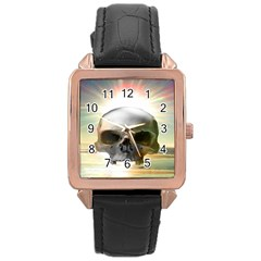 Skull Sunset Rose Gold Watches by icarusismartdesigns