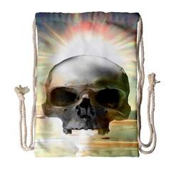 Skull Sunset Drawstring Bag (large) by icarusismartdesigns