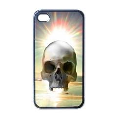 Skull Sunset Apple Iphone 4 Case (black) by icarusismartdesigns