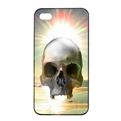 Skull Sunset Apple Iphone 4/4s Seamless Case (black) by icarusismartdesigns